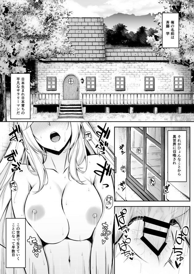【エロ同人誌】異世界に召喚されて美人エルフとのセックスライフを満喫☆【無料 エロ漫画】 (3)
