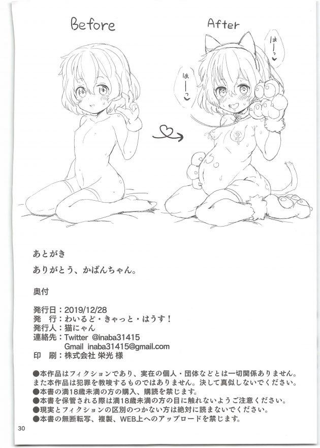 【エロ同人 けもフレ】オジサンに催眠を掛けられてしまったかばんちゃんがイチャラブ種付け交尾を撮影されることになって…【無料 エロ漫画】 (30)